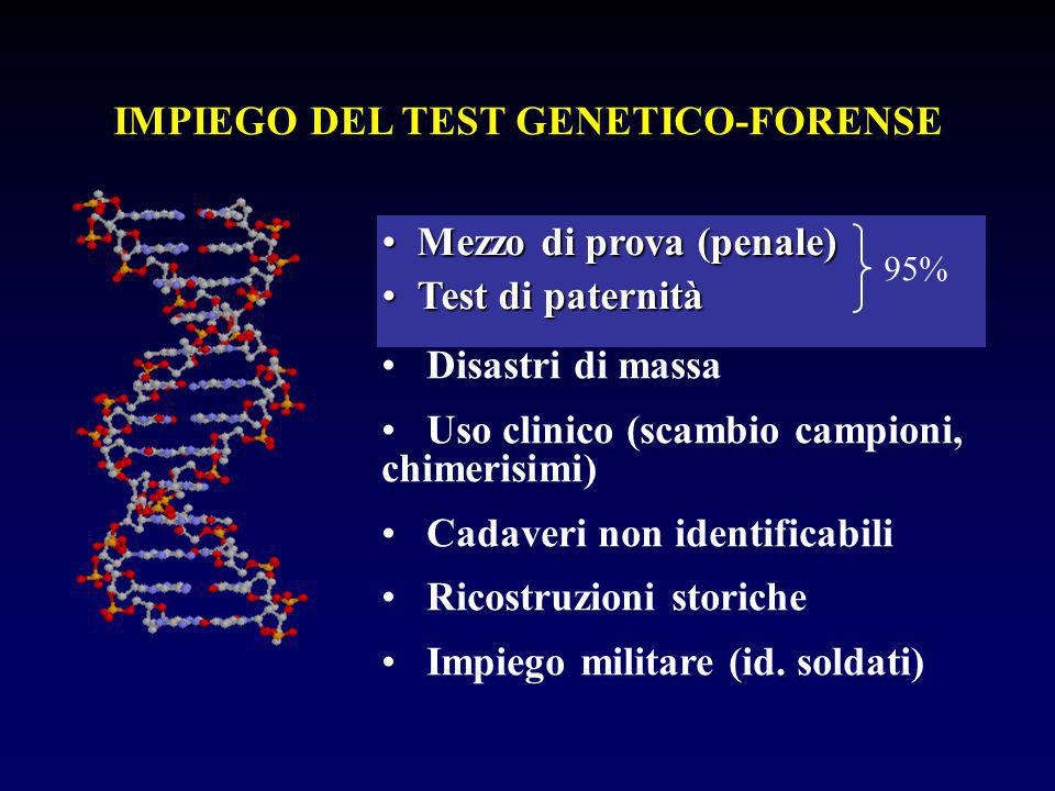 IMPIEGO DEL TEST GENETICO-FORENSE