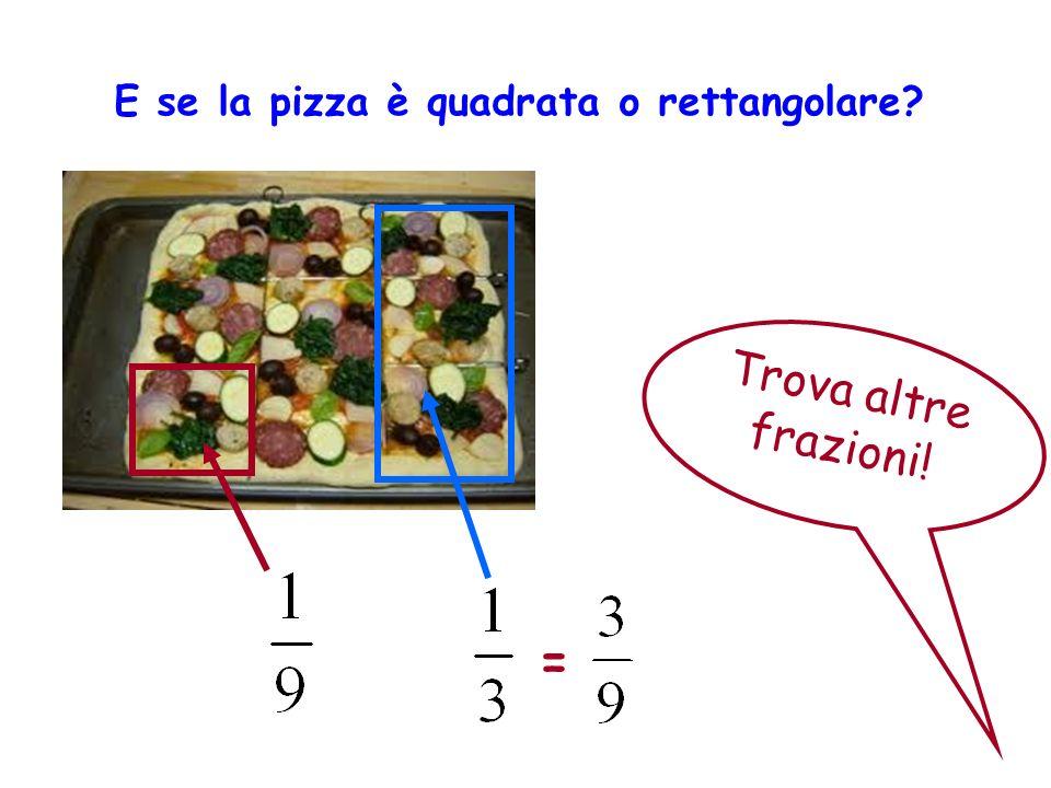 E se la pizza è quadrata o rettangolare