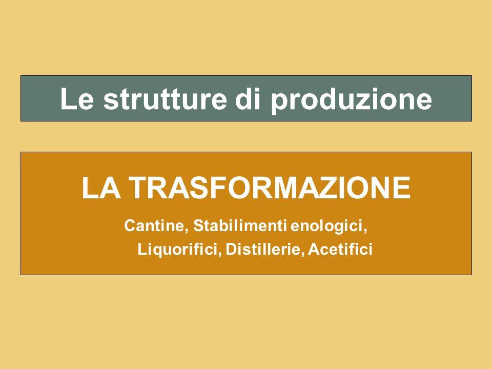 Le strutture di produzione LA TRASFORMAZIONE