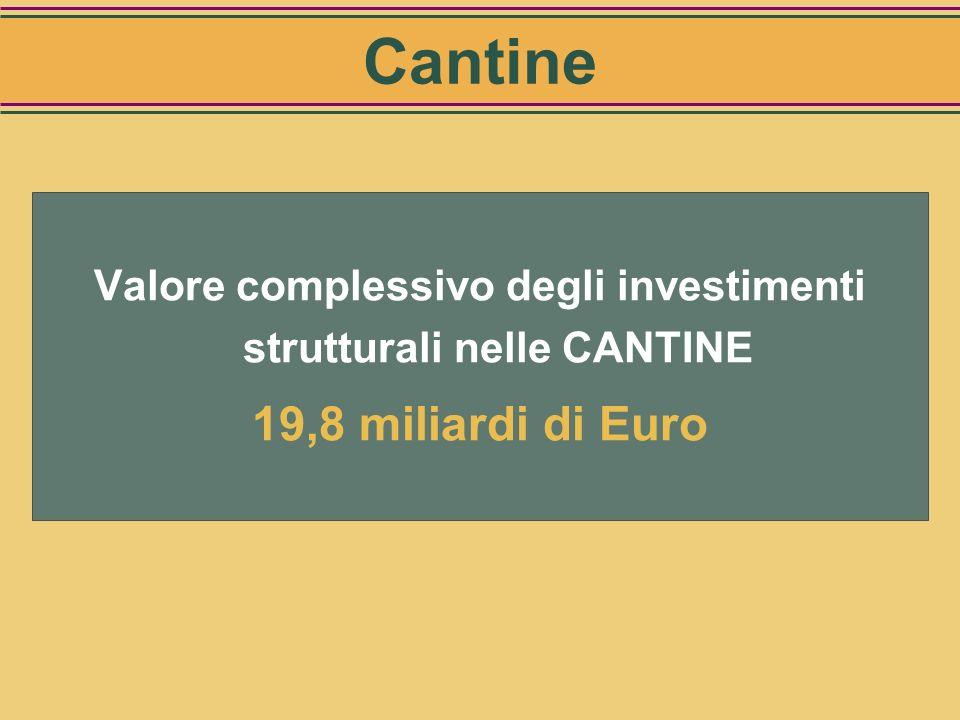 Valore complessivo degli investimenti strutturali nelle CANTINE