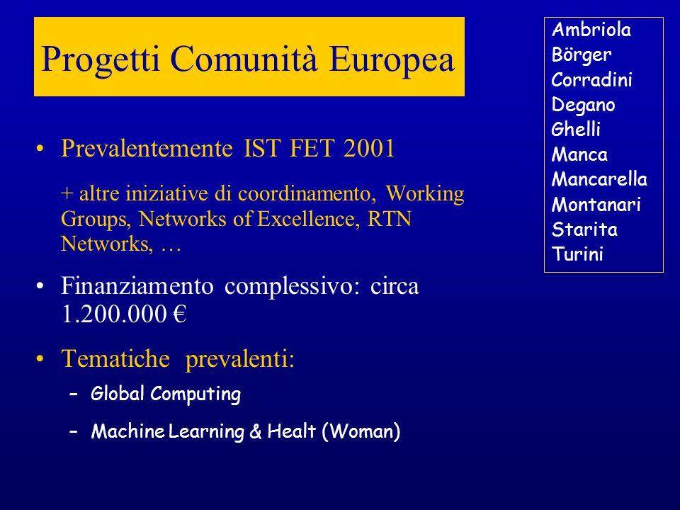 Progetti Comunità Europea