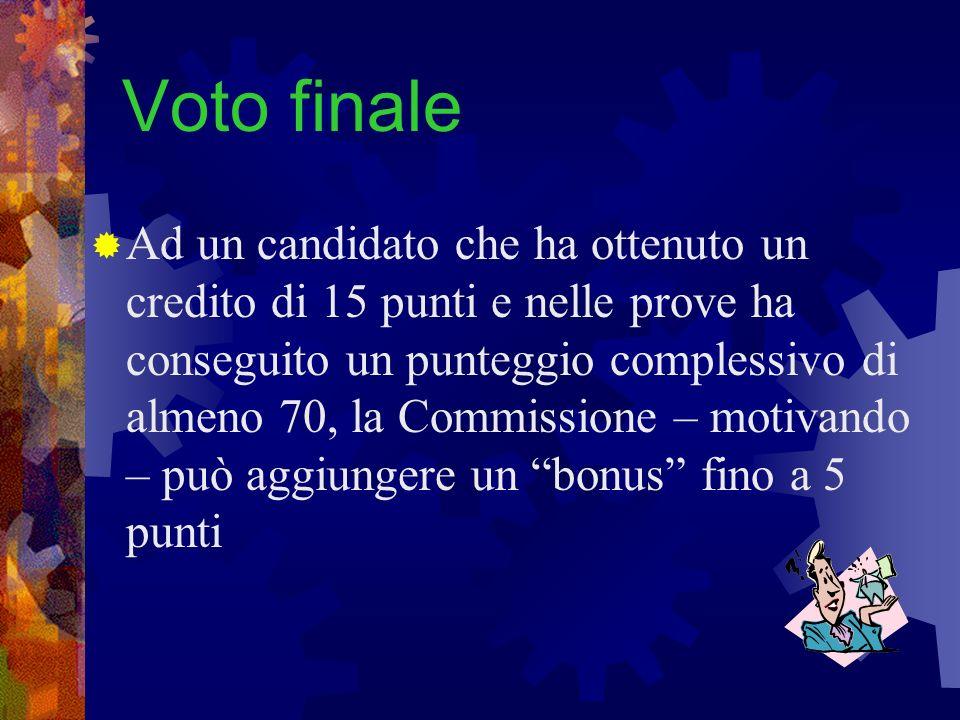 Voto finale