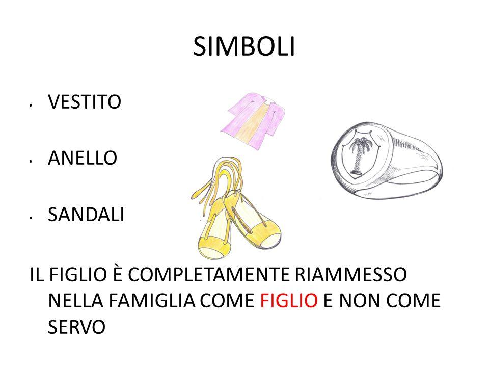 SIMBOLI VESTITO ANELLO SANDALI