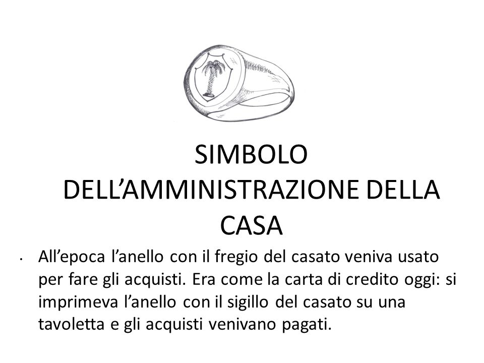 SIMBOLO DELL'AMMINISTRAZIONE DELLA CASA