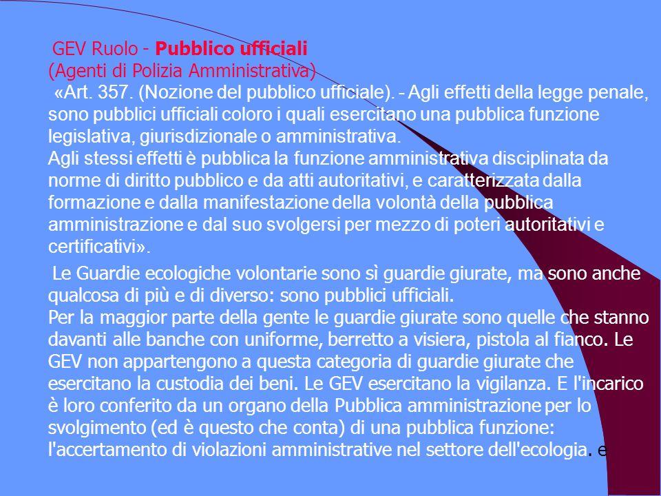 GEV Ruolo - Pubblico ufficiali (Agenti di Polizia Amministrativa) «Art