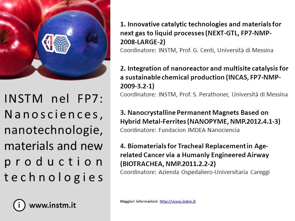 1. Innovative catalytic technologies and materials for next gas to liquid processes (NEXT-GTL, FP7-NMP-2008-LARGE-2)