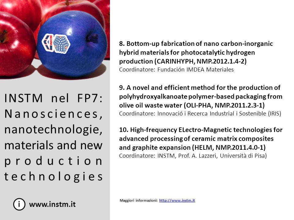 8. Bottom-up fabrication of nano carbon-inorganic hybrid materials for photocatalytic hydrogen production (CARINHYPH, NMP.2012.1.4-2)