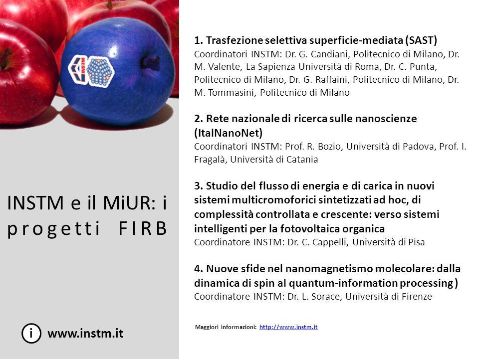 INSTM e il MiUR: i progetti FIRB