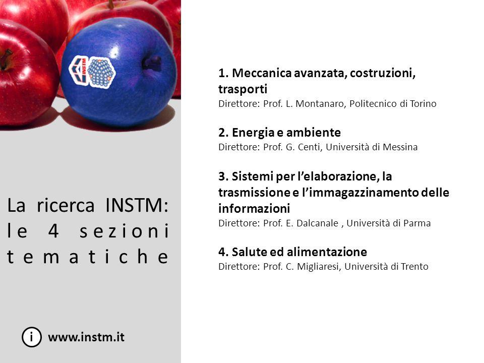 La ricerca INSTM: le 4 sezioni tematiche