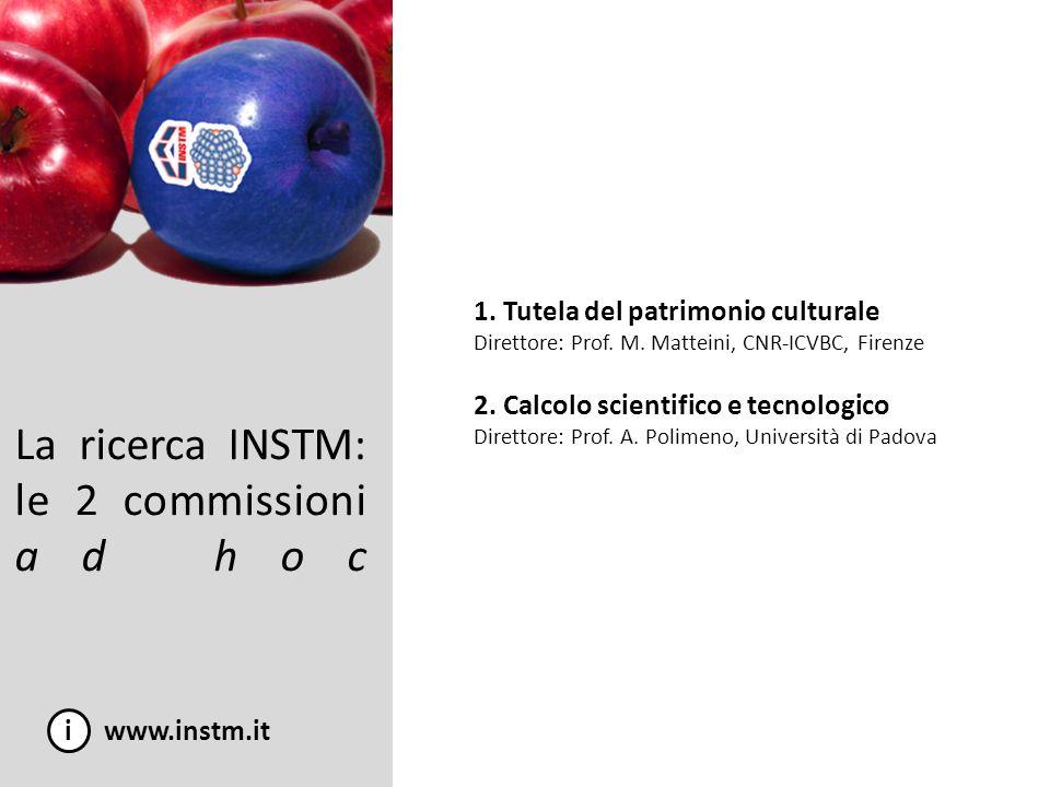 La ricerca INSTM: le 2 commissioni ad hoc