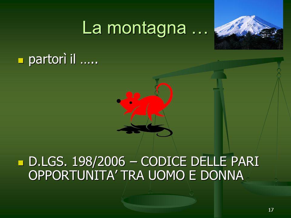 La montagna … partorì il …..