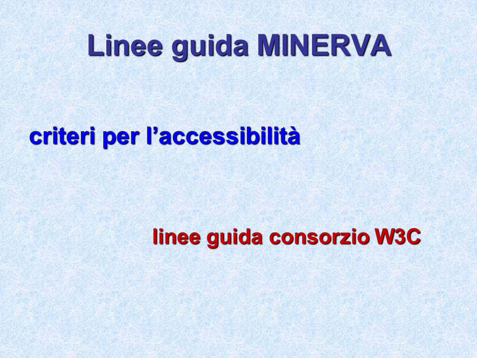 Linee guida MINERVA criteri per l'accessibilità