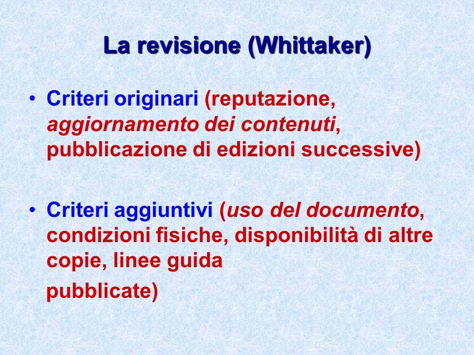 La revisione (Whittaker)