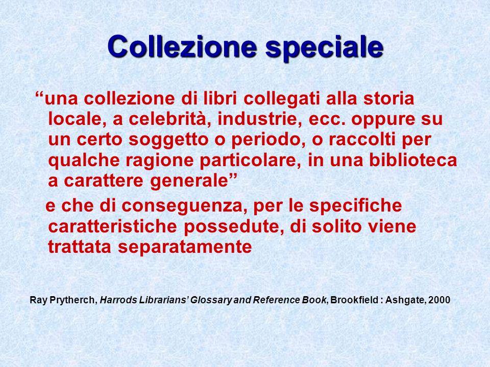 Collezione speciale