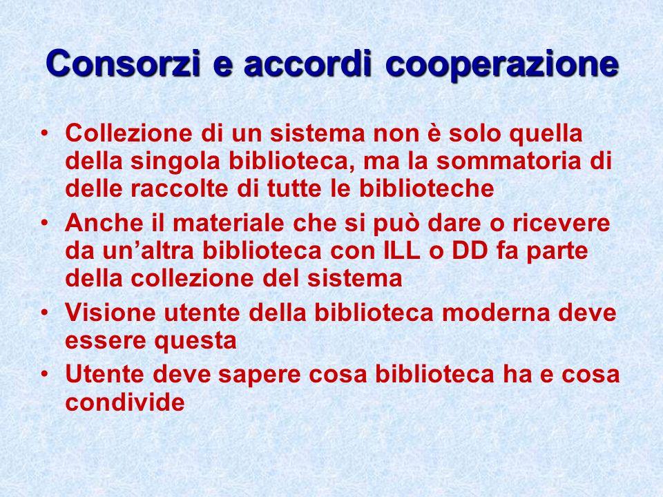 Consorzi e accordi cooperazione