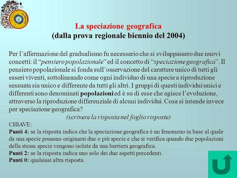 La speciazione geografica