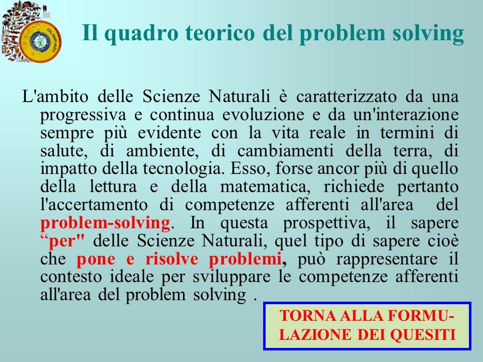 Il quadro teorico del problem solving