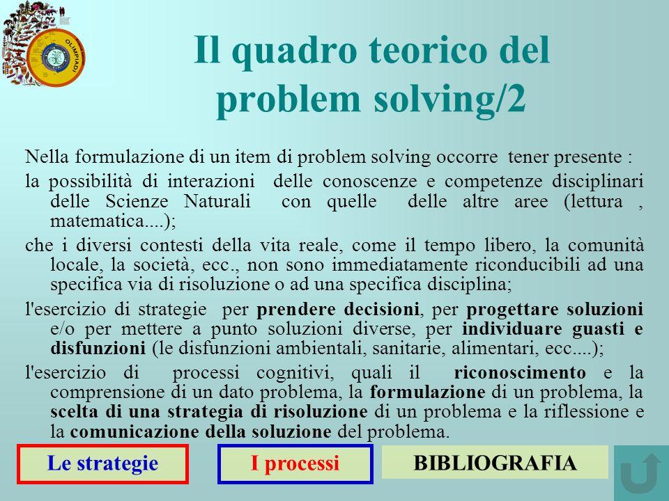 Il quadro teorico del problem solving/2