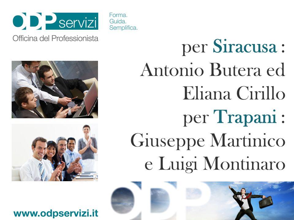 per Siracusa : Antonio Butera ed Eliana Cirillo.