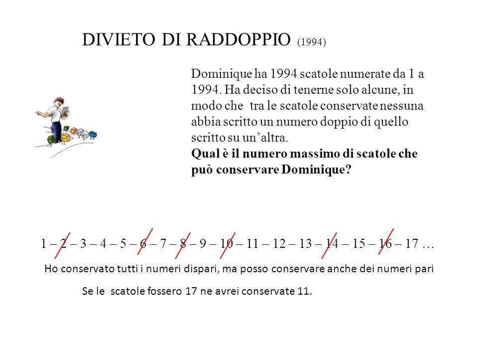 DIVIETO DI RADDOPPIO (1994)