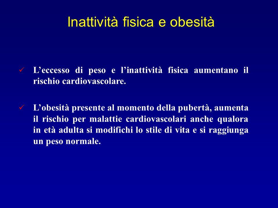 Inattività fisica e obesità