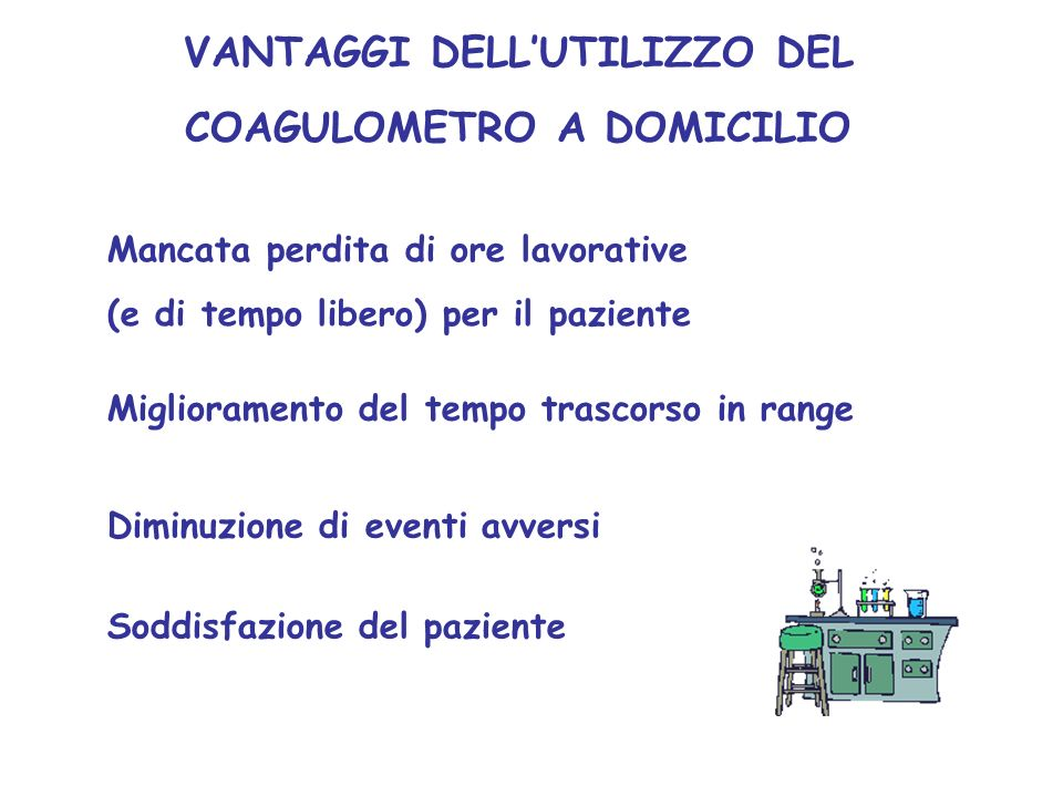 VANTAGGI DELL'UTILIZZO DEL COAGULOMETRO A DOMICILIO