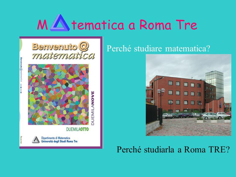Perché studiarla a Roma TRE