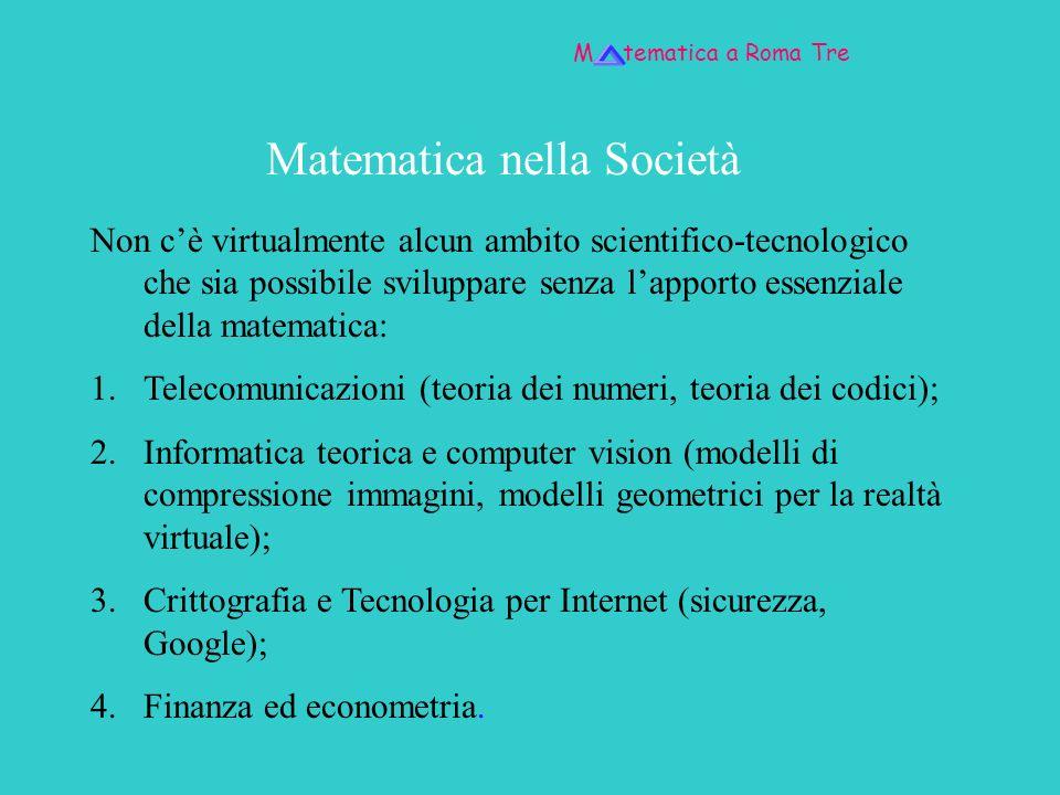 Matematica nella Società
