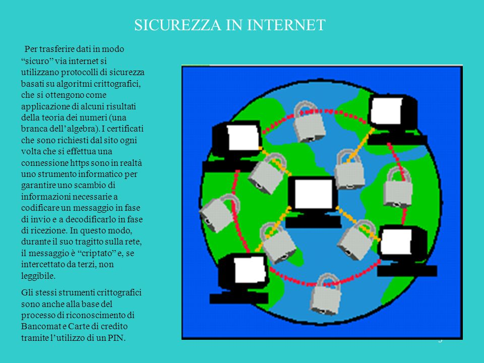 SICUREZZA IN INTERNET