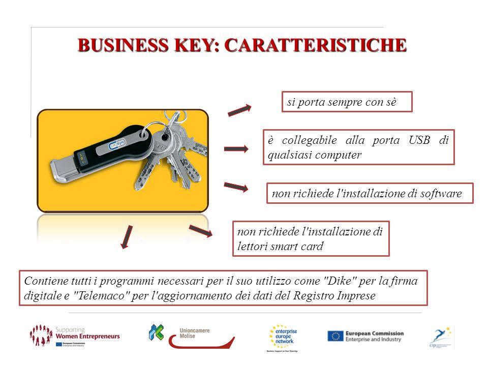 BUSINESS KEY: CARATTERISTICHE