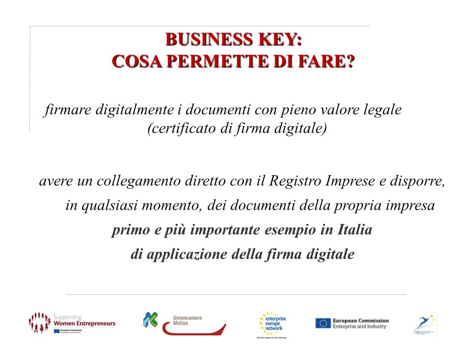 BUSINESS KEY: COSA PERMETTE DI FARE