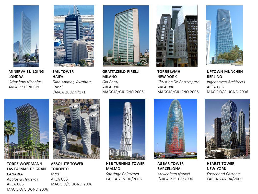 MINERVA BUILDING LONDRA. Grimshaw Nicholas. AREA 72 LONDON. SAIL TOWER. HAIFA. Dina Ammar, Avraham Curiel.