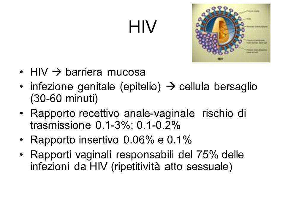 HIV HIV  barriera mucosa
