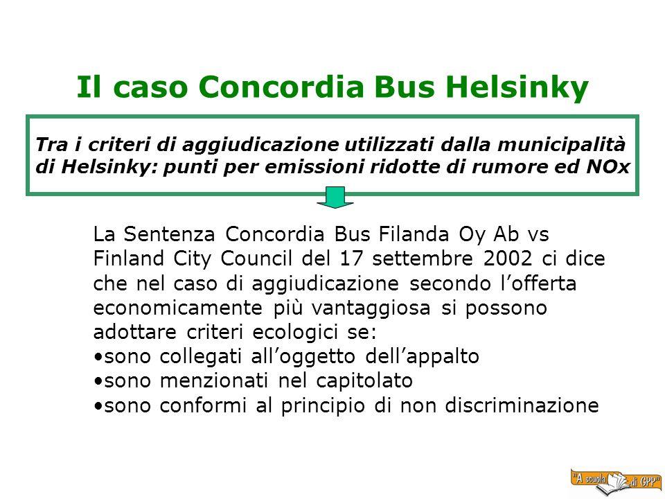Il caso Concordia Bus Helsinky