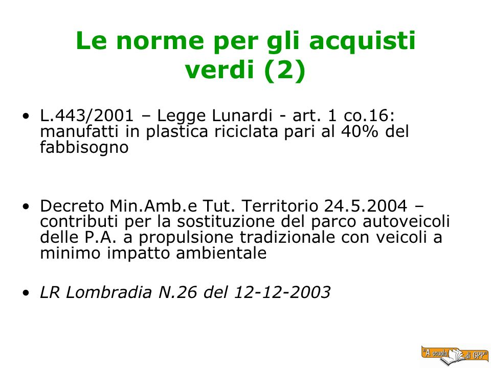 Le norme per gli acquisti verdi (2)