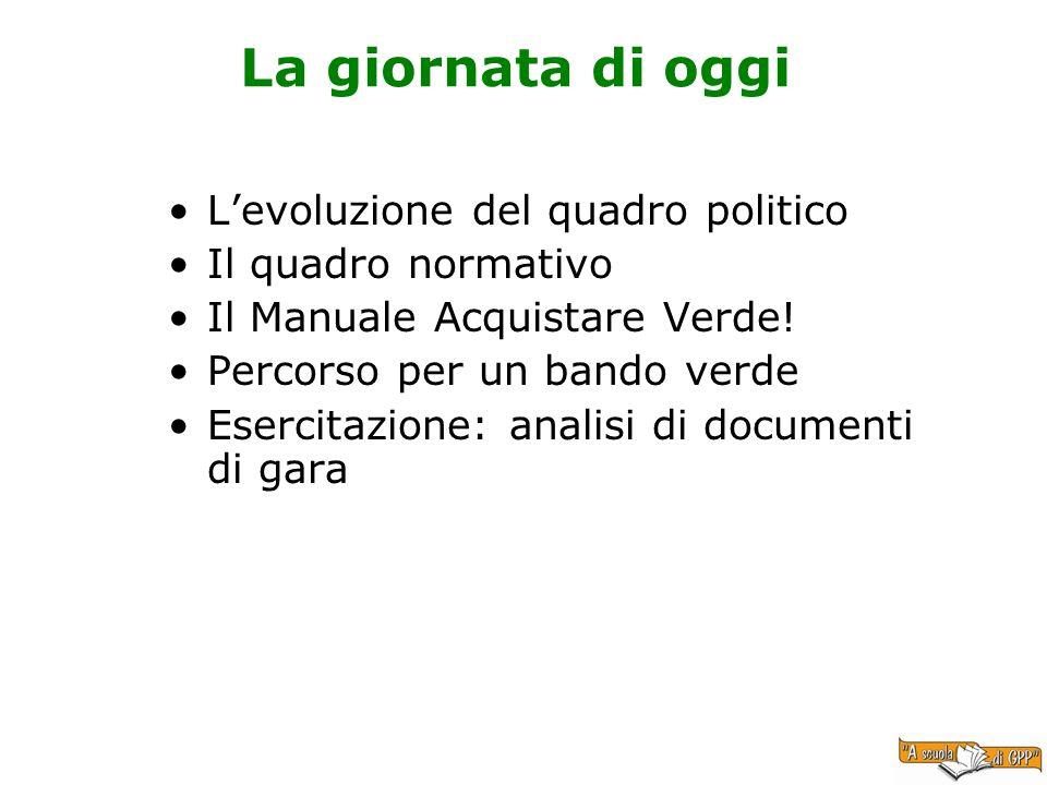 La giornata di oggi L'evoluzione del quadro politico