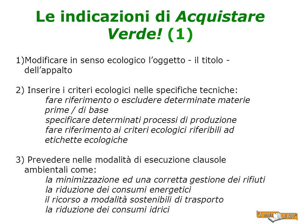 Le indicazioni di Acquistare Verde! (1)