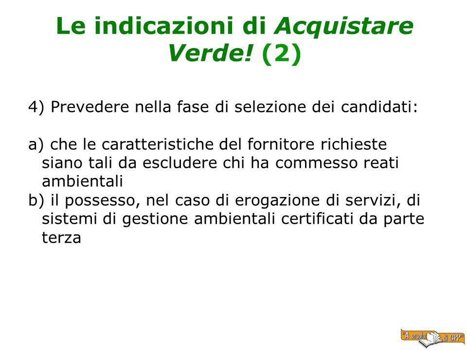 Le indicazioni di Acquistare Verde! (2)