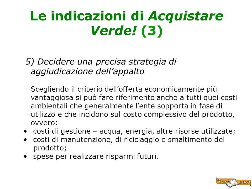Le indicazioni di Acquistare Verde! (3)
