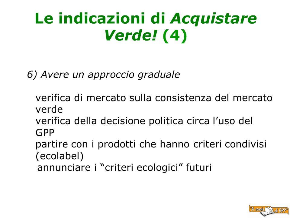 Le indicazioni di Acquistare Verde! (4)