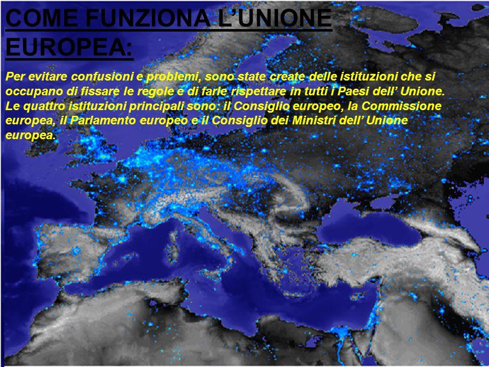 COME FUNZIONA L'UNIONE EUROPEA: