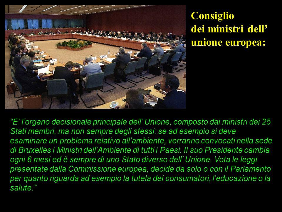 Consiglio dei ministri dell' unione europea: