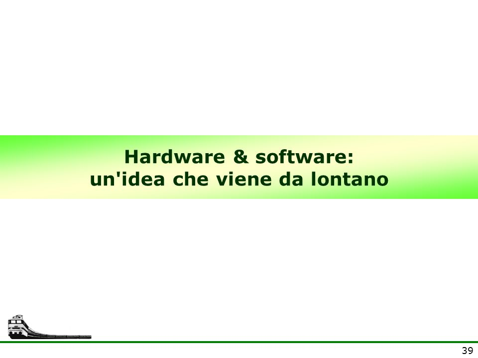 Hardware & software: un idea che viene da lontano