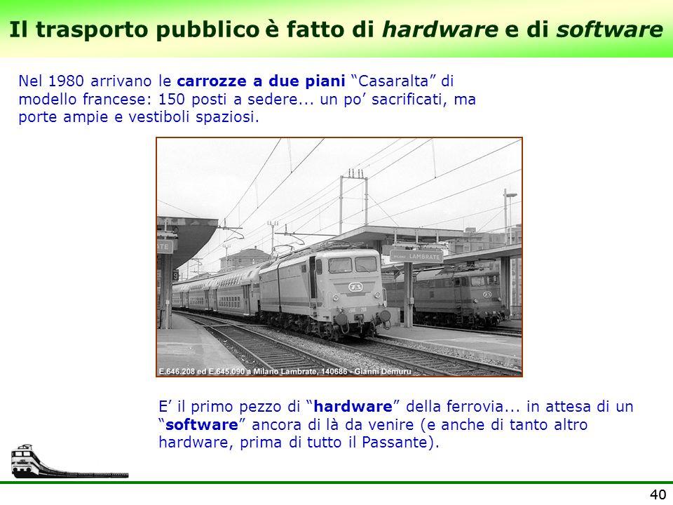 Il trasporto pubblico è fatto di hardware e di software