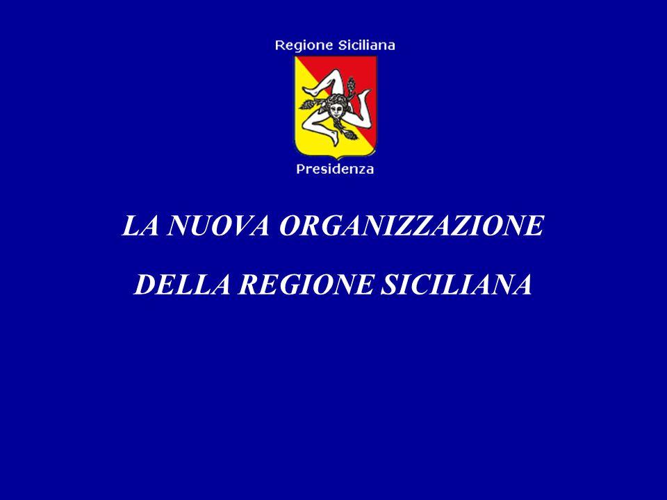 LA NUOVA ORGANIZZAZIONE DELLA REGIONE SICILIANA
