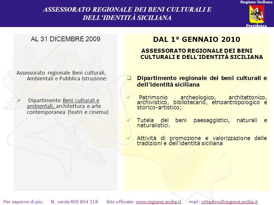 ASSESSORATO REGIONALE DEI BENI CULTURALI E DELL'IDENTITÀ SICILIANA