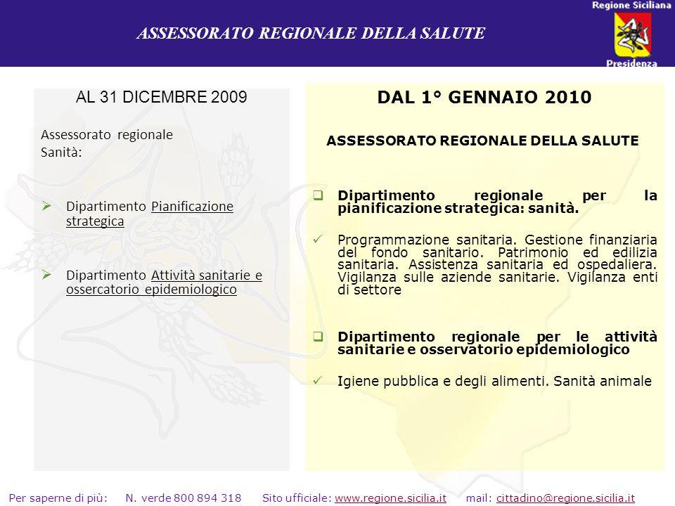 ASSESSORATO REGIONALE DELLA SALUTE