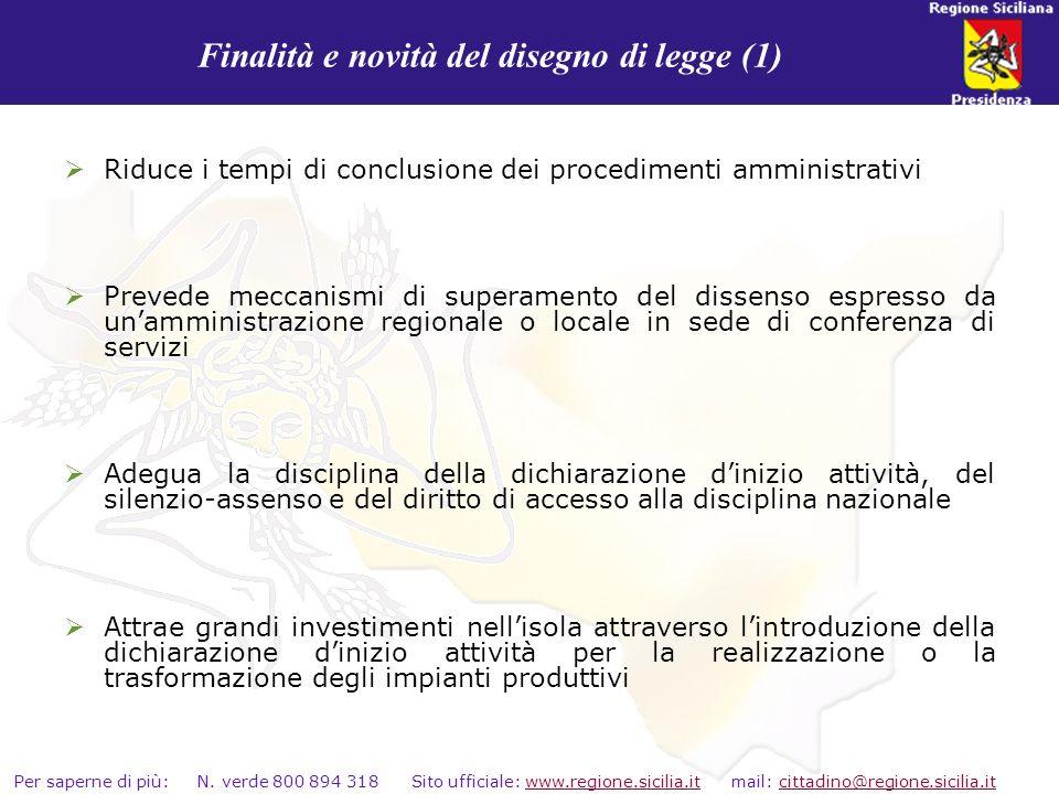 Finalità e novità del disegno di legge (1)