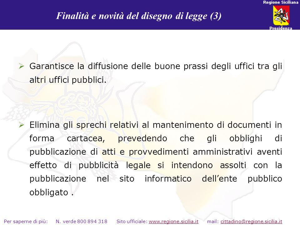 Finalità e novità del disegno di legge (3)