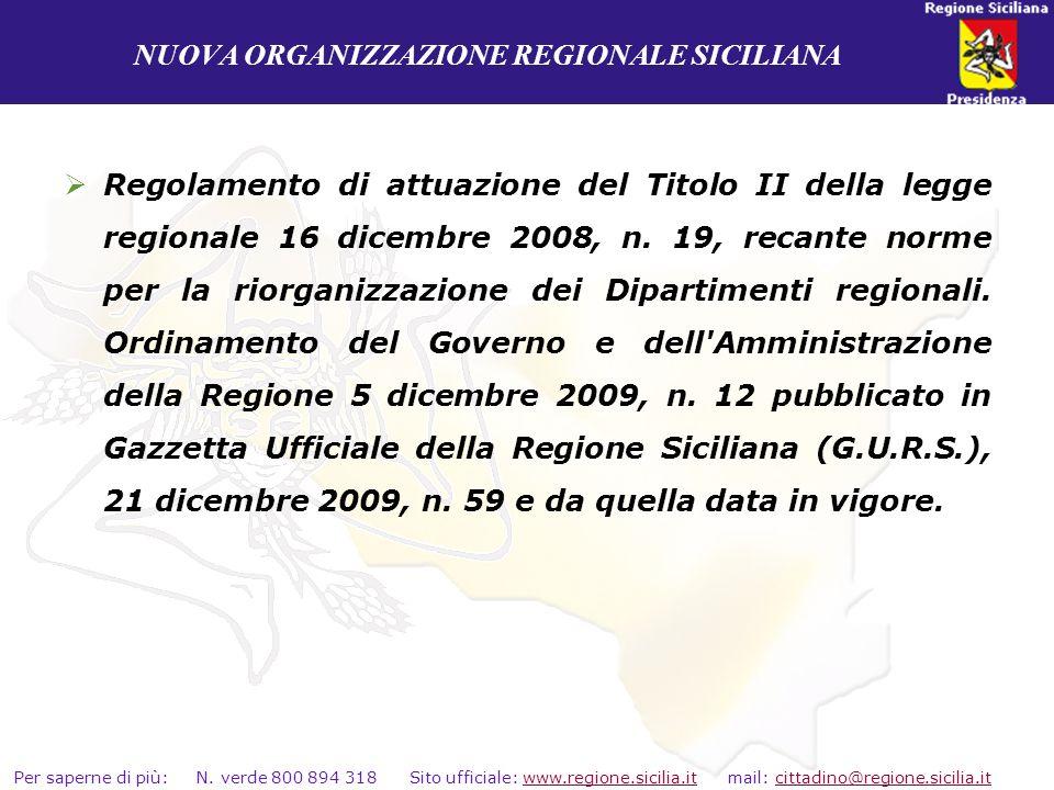 NUOVA ORGANIZZAZIONE REGIONALE SICILIANA